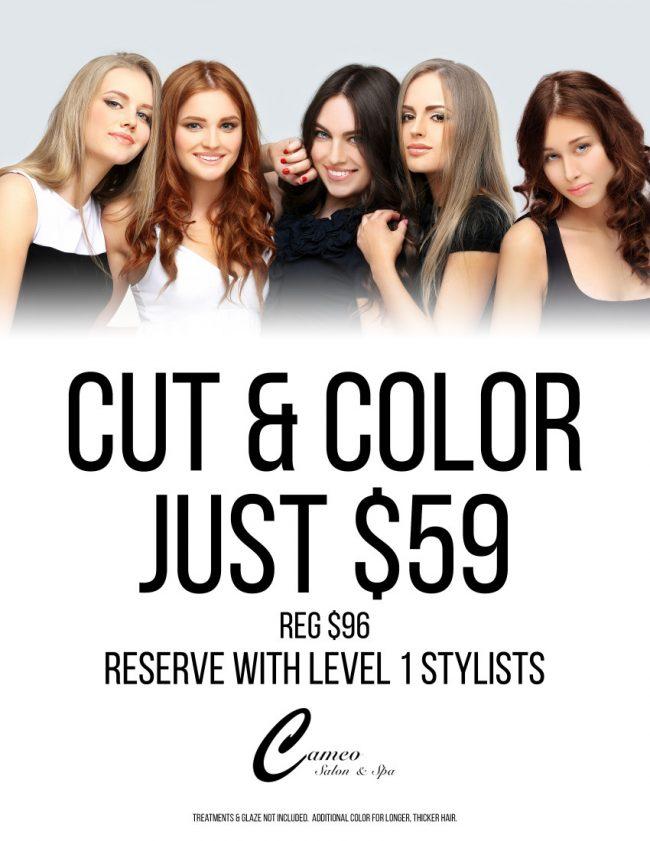 Cameo Cut & Color $59 v2